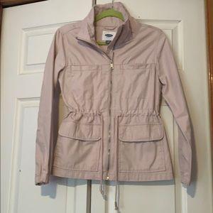 Light pink cargo jacket